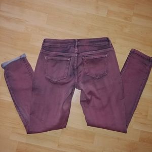 Maurices mauve colored jeggings